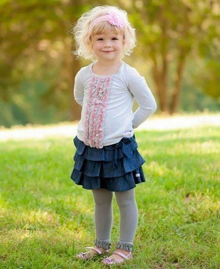 Сшить джинсовую юбку ребенку 2 года
