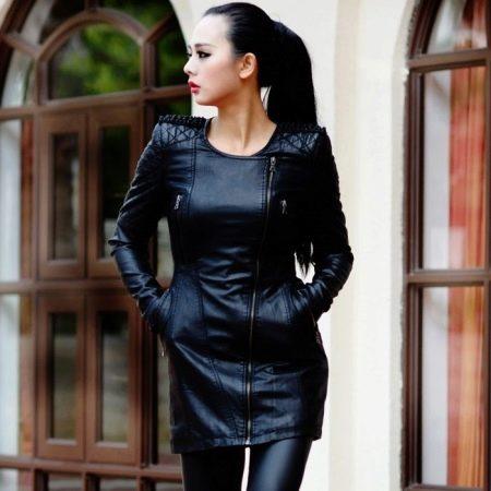 4f57272adb9 Кожаные женские куртки (109 фото)  модные и стильные модели для женщин