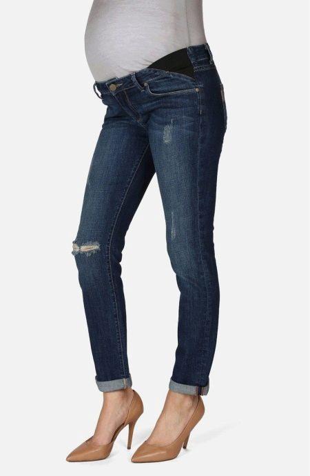 Вставить резинку в джинсы для беременных 39