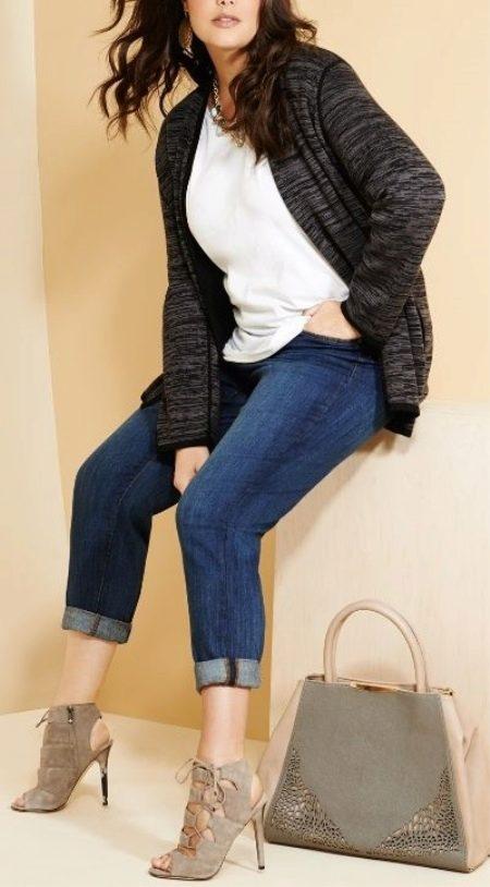 Джинсы-бойфренды на полных девушках (60 фото): можно ли носить полненьким, с чем носить бойфренды большого размера
