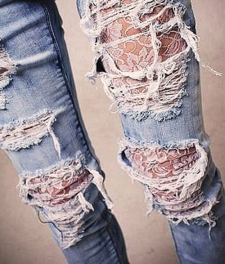 Как сделать дырки на джинсах картинки