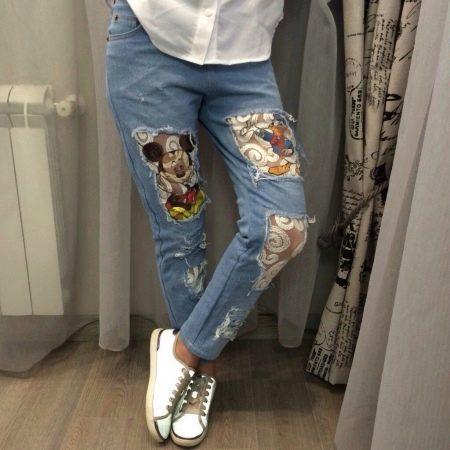 Как сделать резаные джинсы в домашних условиях - Selivanov shina