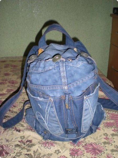 Делаем рюкзак из старых джинс пелагея тюренкова платок рюкзак