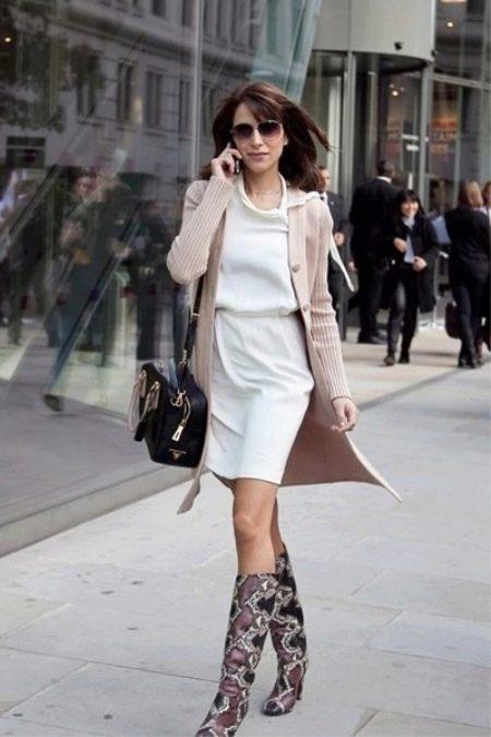Кардиган под белое платье