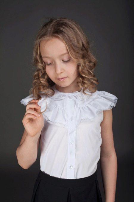 db6744f0414 Блузки для девочек (61 фото)  детские нарядные и молодежные модели ...