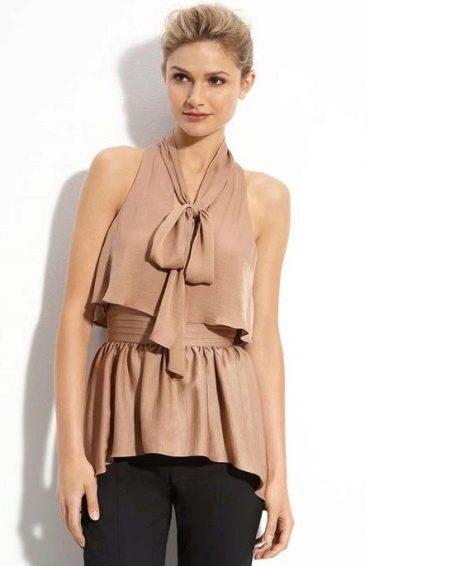 блузка рубашечного покроя для полных