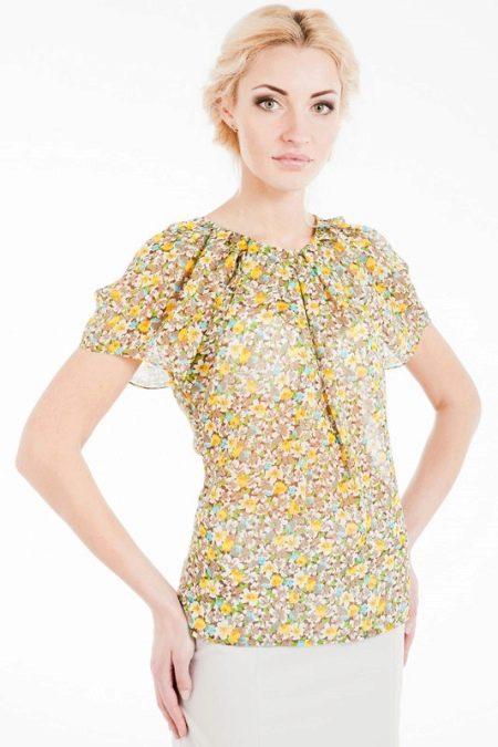 29e9f752269 Блузки с коротким рукавом (59 фото)  блузы из атласа