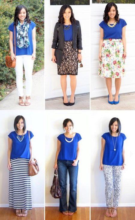 9098d5a58a5 Синяя блузка (88 фото)  с чем носить и сочетать