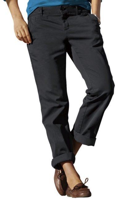 Женские брюки бойфренды (49 фото): с чем и как носить