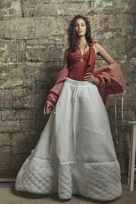 Кофта с юбкой 2018 (111 фото): как сочетать по цвету и фасону