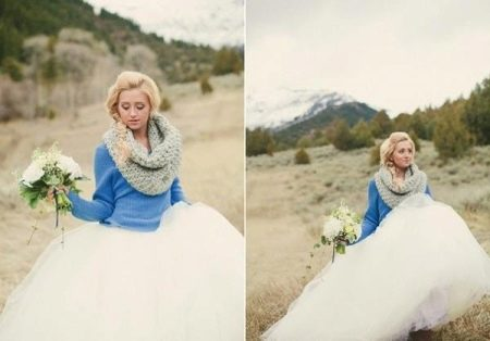 Кофта к свадебному платью