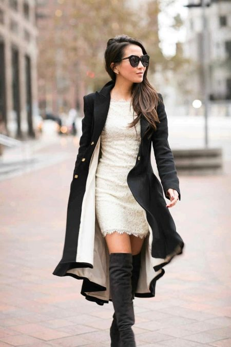 Образ платья и пальто