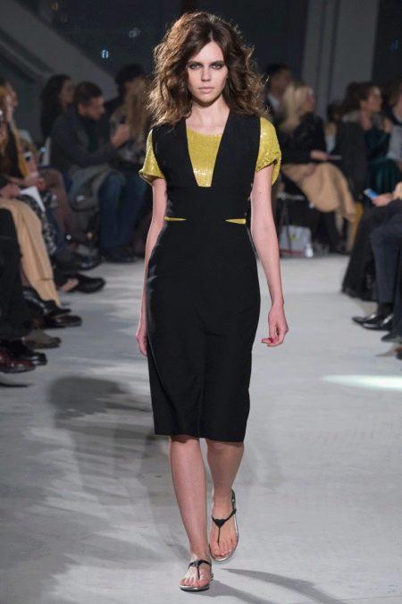 Черный сарафан (111 фото): с чем носить сарафан, офисный, вечерний, платье-сарафан, на бретельках