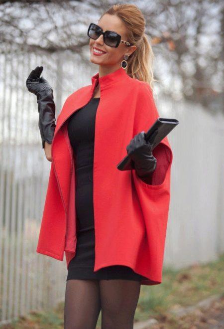 57f9b2c2d89 С чем носить красное пальто (77 фото)  короткое