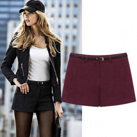 Девушка в шортах и в колготках — pic 12