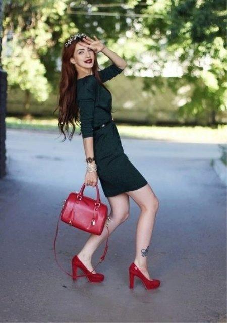 Легкое платье с туфлями