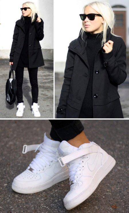 Найки белые женские с чем носить