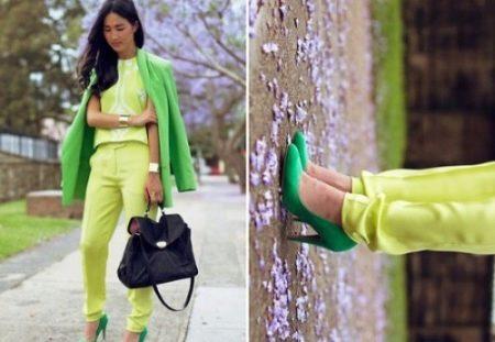 Модные зеленые блузки