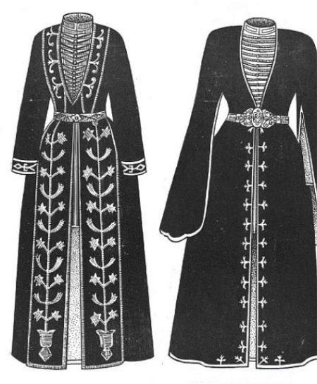 Национальный костюм осетин (46 фото): женский и мужской свадебный осетинский наряд