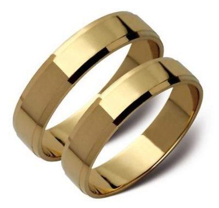 плоские кольца обручальные фото