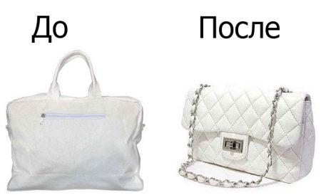 f9164736aa3a На кожаных белых сумках великолепно смотрится цветной яркий декупаж. Причем  это могут быть не только большие цветы. Интересным решением станут  необычные ...