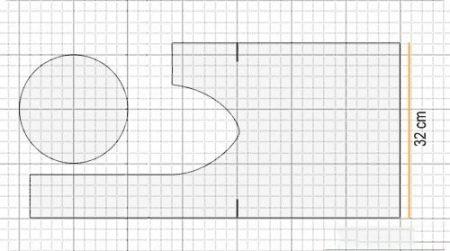 3b06c462e0f5 Эта выкройка хороша тем, что очень проста в исполнении, сумочку можно сшить  из любого материала и любого размера – все, что душе угодно.