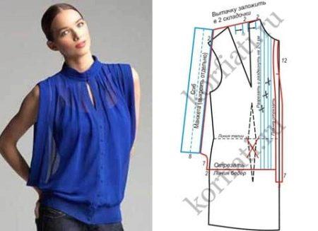 Как сшить летнюю блузку своими руками быстро и без выкройки фото 653