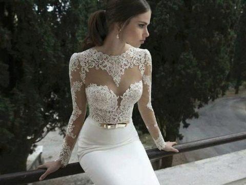 платье-футляр свадебное фото