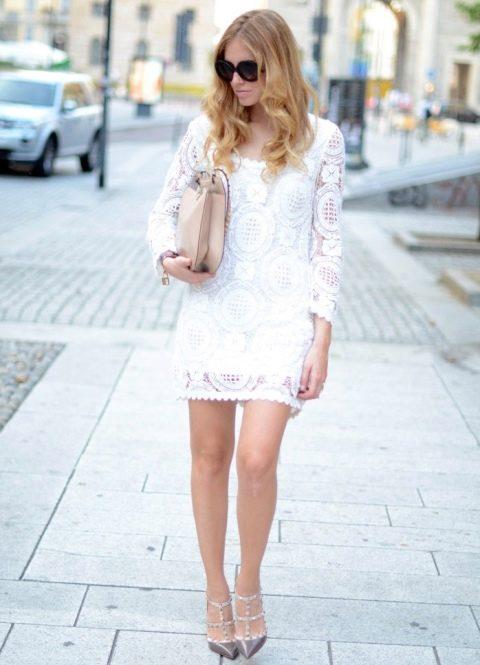 Как выбрать и с чем носить белое платье: фото   665x480