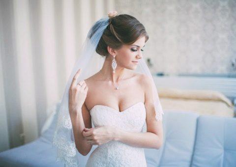 Свадебные прически над