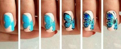 Бабочка на ногтях пошагово (40 фото): как правильно рисовать ...