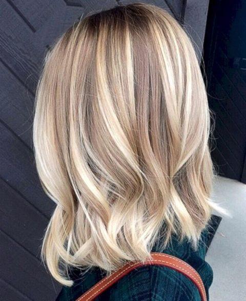 ᐉ Мелкое мелирование на русые волосы, темно, светло русые, каре ... | 586x480