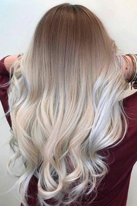 Сделать омбре на белые волосы