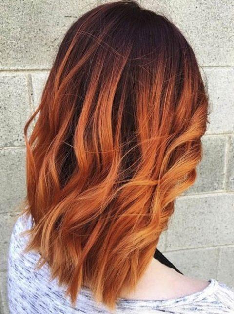 Шатуш на рыжие короткие волосы
