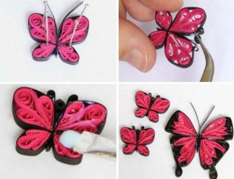 Квиллинг бабочка: мастер класс и схемы для новичков - Сайт о рукоделии   367x480