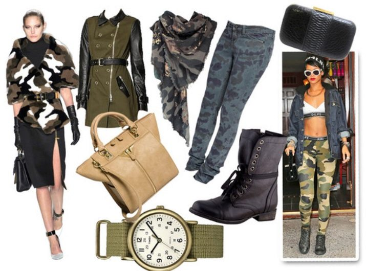 Стиль милитари в женской одежде