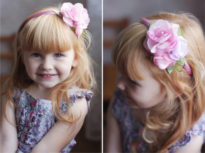 Украшение на волосы для девочек своими руками 935