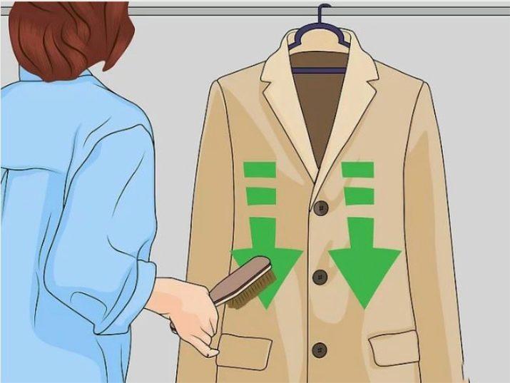 Почистить воротник драпового пальто в домашних условиях