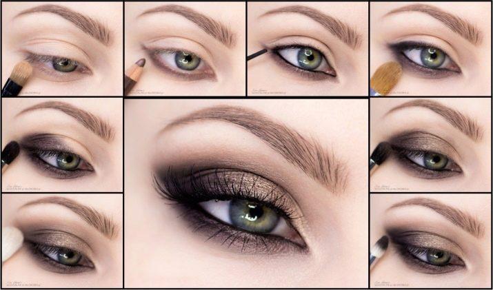 Макияж глаз с опущенными уголками стрелки