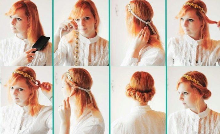 Греческая прическа с повязкой (39 фото): как делать ее на средних и длинных волосах пошагово? Как называется резинка для греческих причесок?