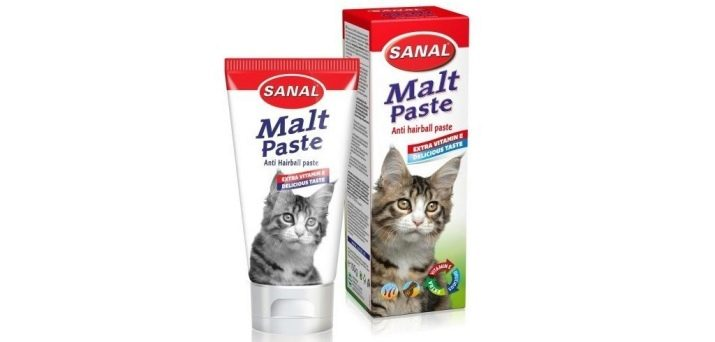 Мальт  паста для вывода шерсти у кошек Как правильно применять добавку