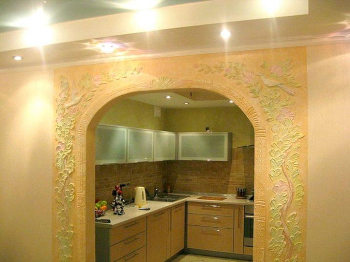 утреннего лепка на стенах в кухне фото ручей