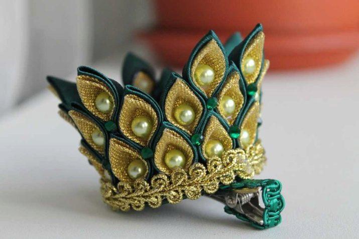 Корона из атласных лент своими руками
